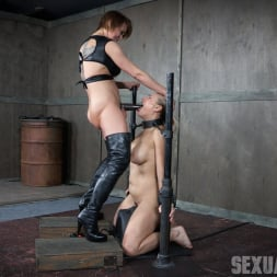 Angel Allwood in 'Insex' is neck bound on a Sybian and throat fucked while violently cumming over and over! (Thumbnail 8)