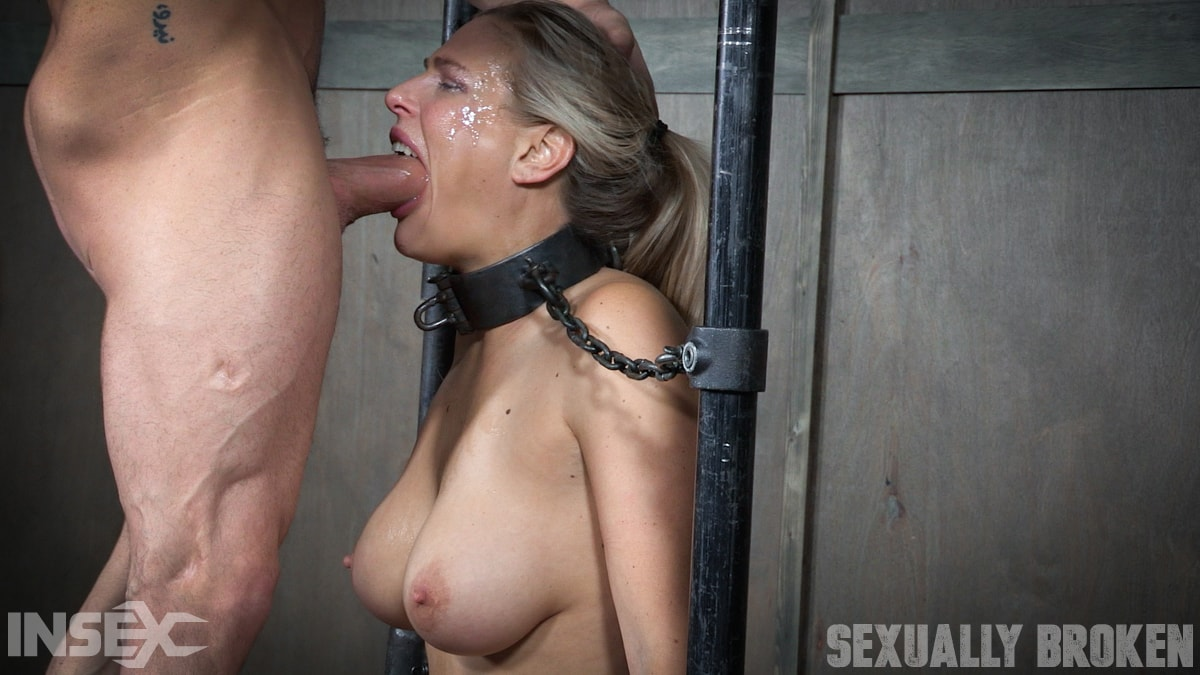 Insex 'is neck bound on a Sybian and throat fucked while violently cumming over and over!' starring Angel Allwood (Photo 13)