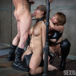 Angel Allwood in 'Insex' is neck bound on a Sybian and throat fucked while violently cumming over and over! (Thumbnail 14)