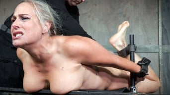 Angel Allwood in 'Big titted Blond MILF is hogtied and face fucked into oblivian. Tight bondage, deep throat, Orgasms!'