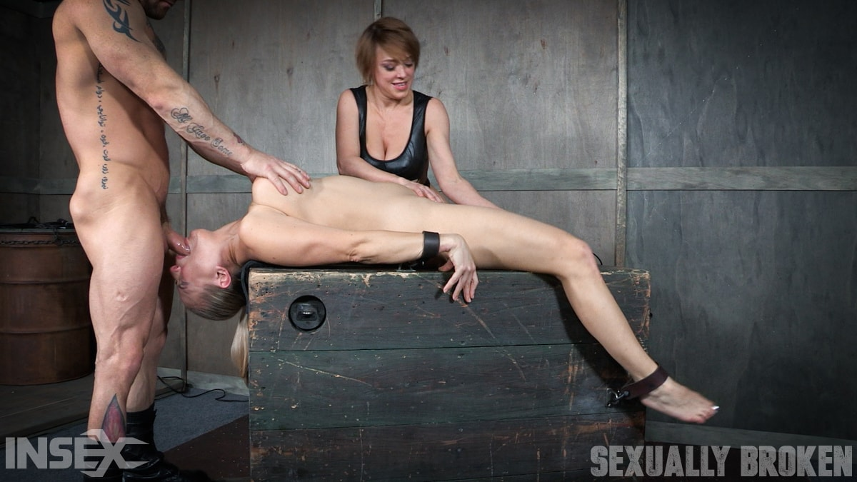 Insex 'Bound and helpless, Big titted blond is deepthroated, face fucked and made to cum over and over!' starring Angel Allwood (Photo 7)