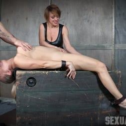 Angel Allwood in 'Insex' Bound and helpless, Big titted blond is deepthroated, face fucked and made to cum over and over! (Thumbnail 7)