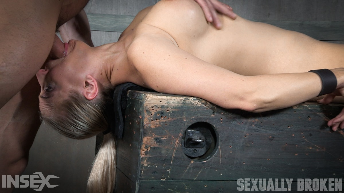 Insex 'Bound and helpless, Big titted blond is deepthroated, face fucked and made to cum over and over!' starring Angel Allwood (Photo 14)
