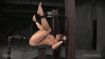 Angel Allwood in 'Grand finale of Angel Allwood's BaRS show with relentless machine dicking down and BBC deepthroat!'
