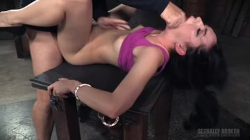 Aria Alexander - Aria Alexander roughly fucked by BBC in handcuff bondage for her live BaRS show, epic deepthroat!