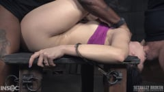 Aria Alexander - Aria Alexander roughly fucked by BBC in handcuff bondage for her live BaRS show, epic deepthroat! (Thumb 01)