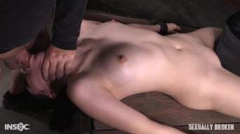 Aria Alexander in 'Sexy beauty Aria Alexander shackled to sybian and throat trained by two hard cocks!'