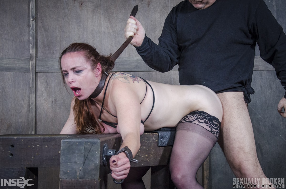 Insex 'BaRS: Bound, and collared, Bella is destroyed by cock, mentally, physically!' starring Bella Rossi (Photo 9)
