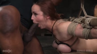 Bella Rossi in 'Busty Bella Rossi BaRS show with epic BBC deepthroat, tited tits and strict challenging bondage!'