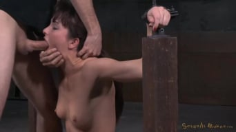 Bianca Breeze in 'Fresh faced Bianca Breeze bound in metal shackles and used hard, rough sex and brutal deepthroat!'