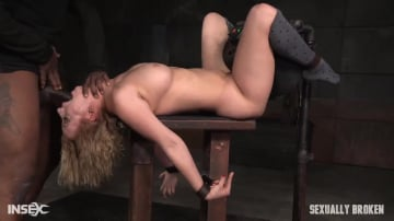Cherry Torn - Banging blonde Cherry Torn sybian blasted and roughly fucked by BBC with brutal deepthroat!