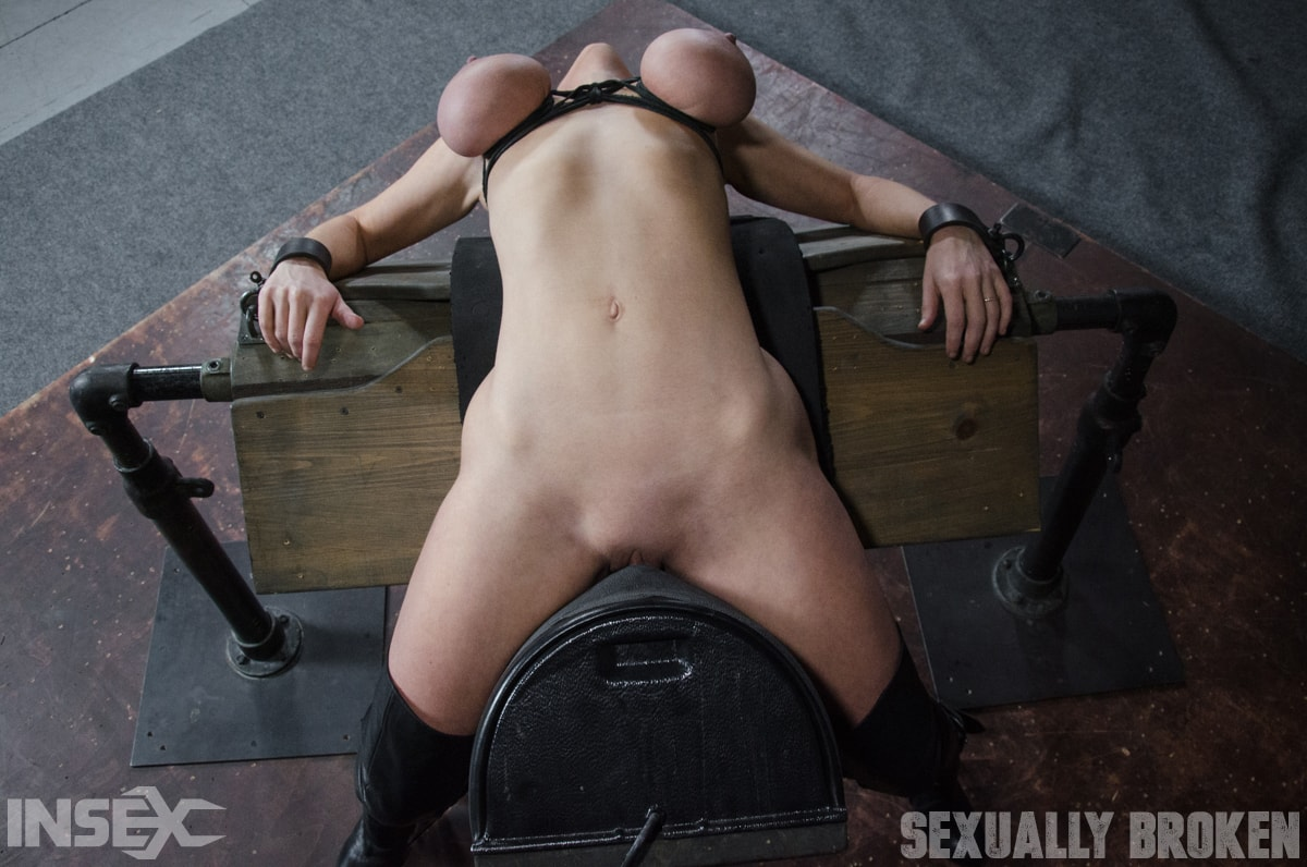 Insex 'Dee Williams, our sexy resident Top, gets grabbed, severely bound, Brutally face fucked on a sybian!' starring Dee Williams (Photo 4)
