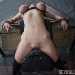 Dee Williams in 'Insex' Dee Williams, our sexy resident Top, gets grabbed, severely bound, Brutally face fucked on a sybian! (Thumbnail 4)