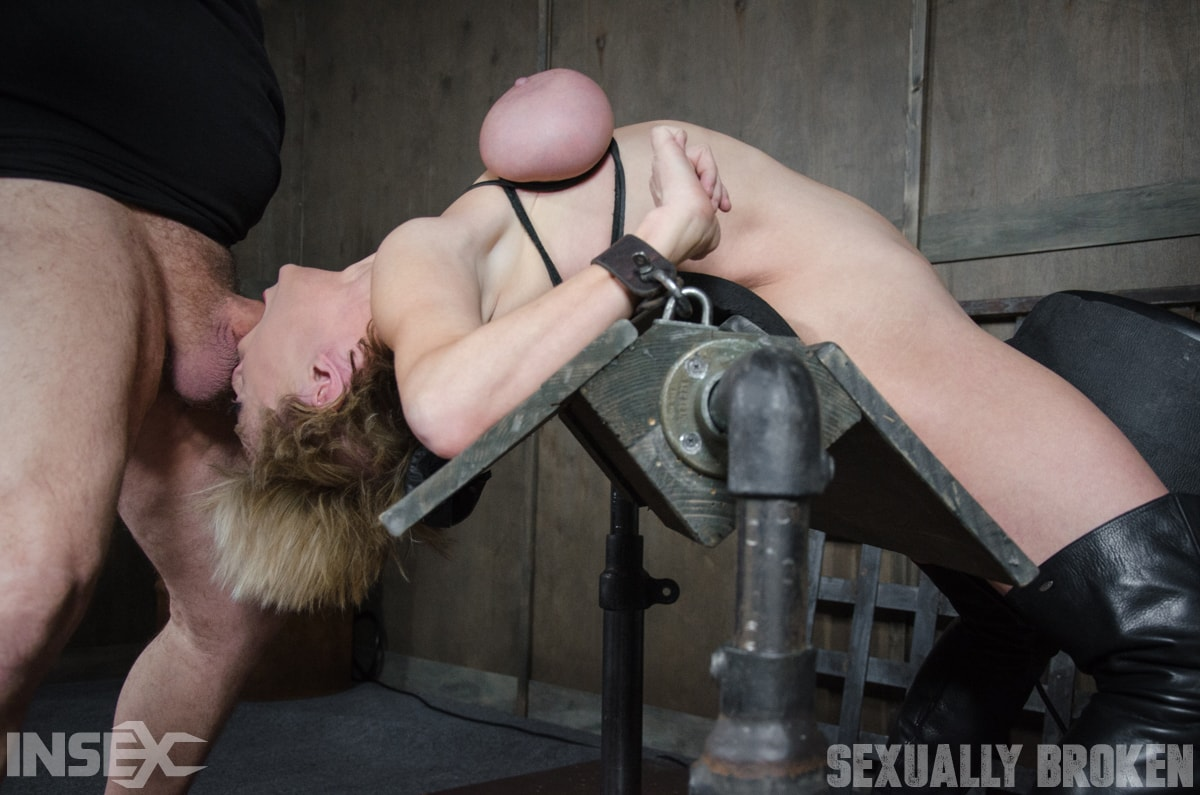 Insex 'Dee Williams, our sexy resident Top, gets grabbed, severely bound, Brutally face fucked on a sybian!' starring Dee Williams (Photo 8)