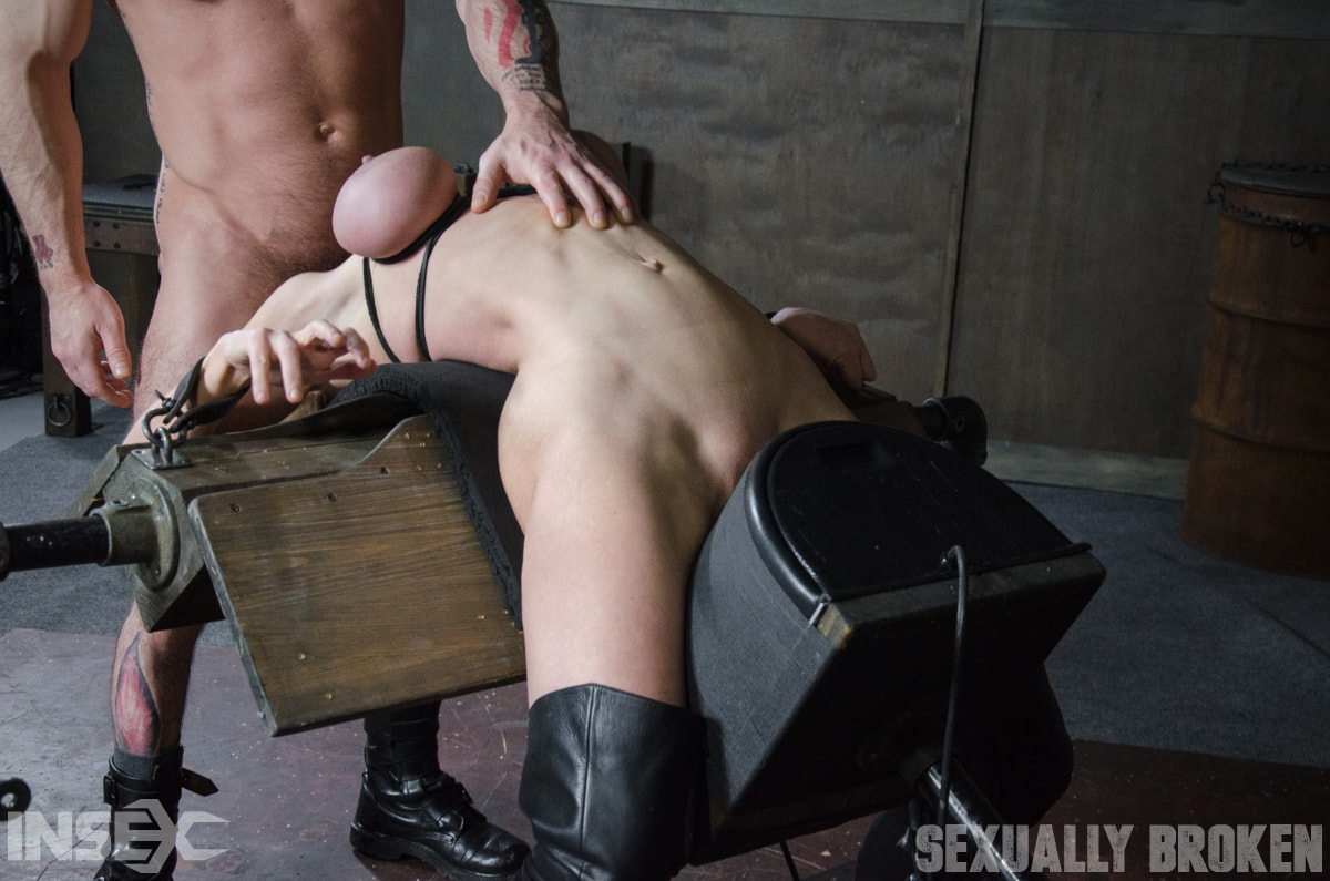 Insex 'Dee Williams, our sexy resident Top, gets grabbed, severely bound, Brutally face fucked on a sybian!' starring Dee Williams (Photo 9)
