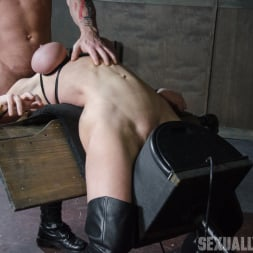 Dee Williams in 'Insex' Dee Williams, our sexy resident Top, gets grabbed, severely bound, Brutally face fucked on a sybian! (Thumbnail 9)