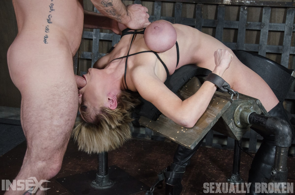 Insex 'Dee Williams, our sexy resident Top, gets grabbed, severely bound, Brutally face fucked on a sybian!' starring Dee Williams (Photo 12)