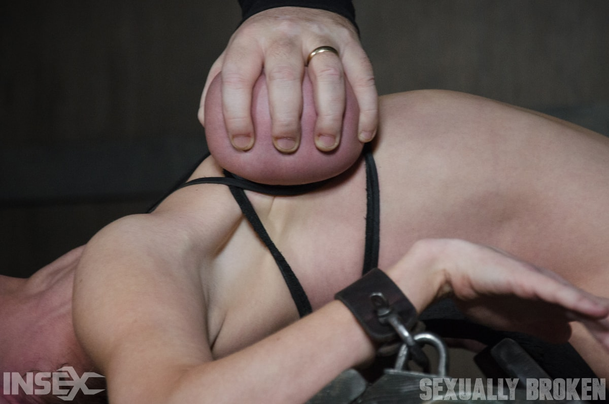 Insex 'Dee Williams, our sexy resident Top, gets grabbed, severely bound, Brutally face fucked on a sybian!' starring Dee Williams (Photo 14)
