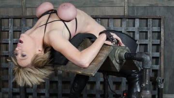 Dee Williams - Dee Williams, our sexy resident Top, gets grabbed, severely bound, Brutally face fucked on a sybian!