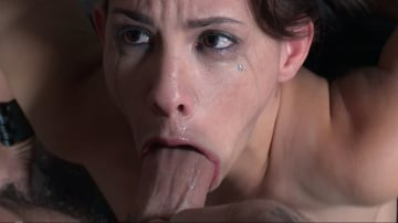 Devilynne - Tiny Devi Lynne gets blasted into subspace getting face fucked and vibrated. Brutal deep throating!