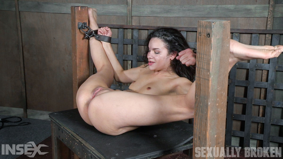 Insex 'is ravaged, throated, made to squirt, made to sceam, mad to cum over and over, while bound!' starring Eden Sin (Photo 11)