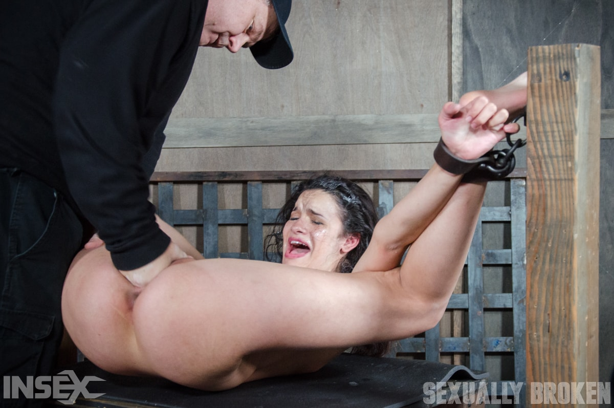 Insex 'is ravaged, throated, made to squirt, made to sceam, mad to cum over and over, while bound!' starring Eden Sin (Photo 15)