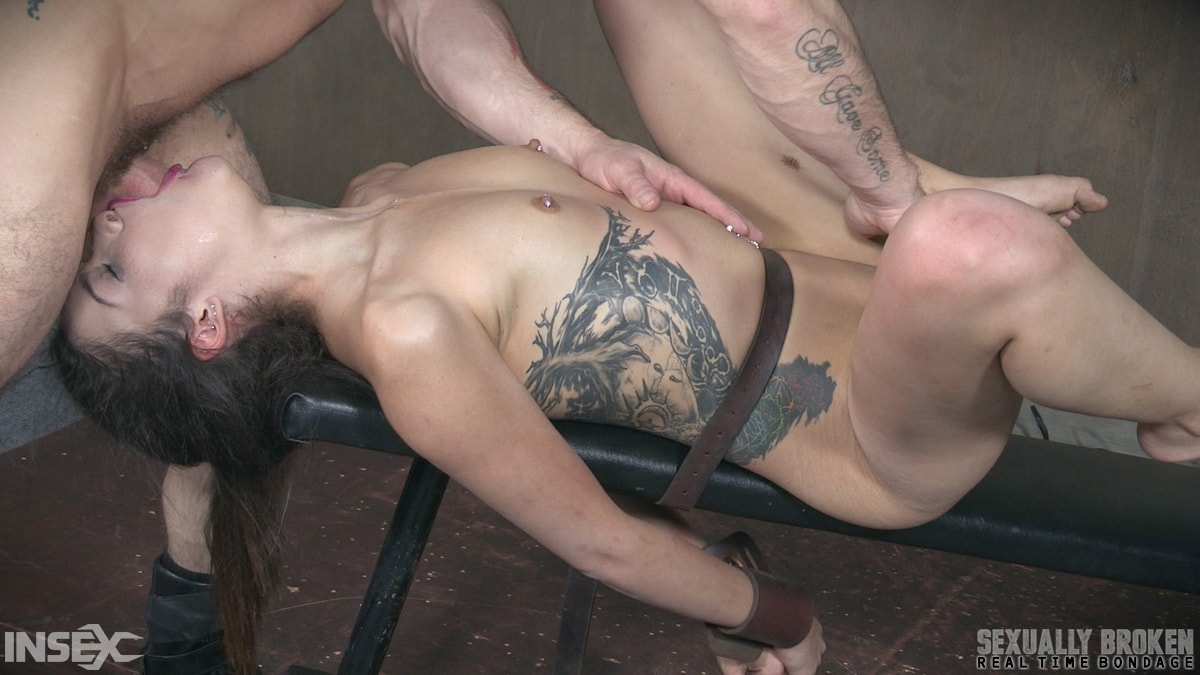 Insex 'Edsen Sin BaRS part 3: Tiny little slut is belted down and brutally fucked to several orgasms!' starring Eden Sin (Photo 3)