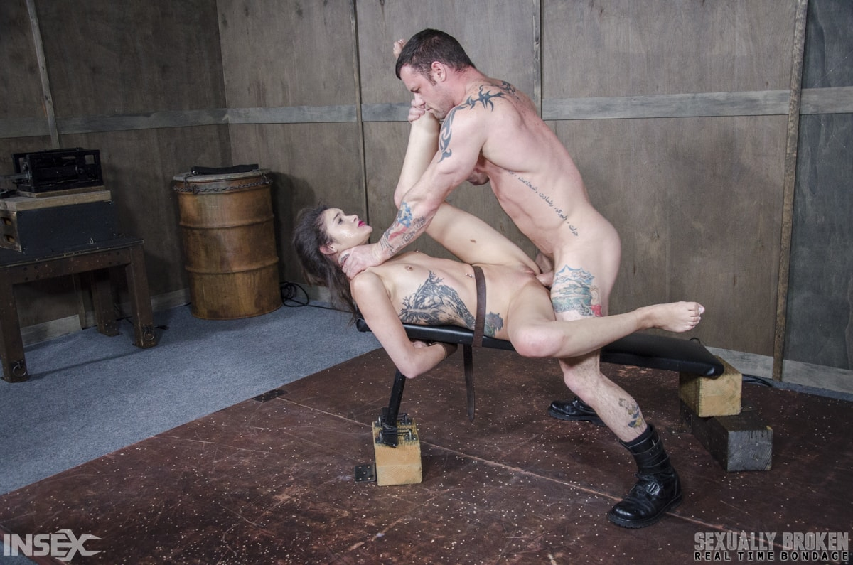 Insex 'Edsen Sin BaRS part 3: Tiny little slut is belted down and brutally fucked to several orgasms!' starring Eden Sin (Photo 15)
