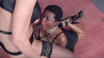Kahlista Stonem in 'Cutie Kahlista Back For Live Throat Fucking in Intense Rope Bondage With Serious Orgasms!'