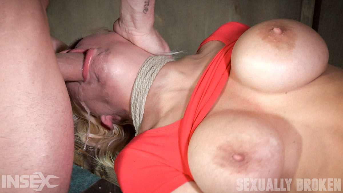 Insex 'is bound and helpless, while getting face fucked and pounded to several screaming O's' starring Kenzie Taylor (Photo 14)