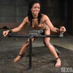 Kira Noir in 'Insex' Adorable Kira Noir shackled down in belt bondage and taken roughly from both ends by big dick! (Thumbnail 2)