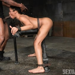 Kira Noir in 'Insex' Adorable Kira Noir shackled down in belt bondage and taken roughly from both ends by big dick! (Thumbnail 4)