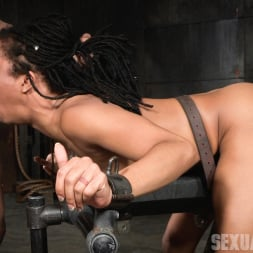 Kira Noir in 'Insex' Adorable Kira Noir shackled down in belt bondage and taken roughly from both ends by big dick! (Thumbnail 5)