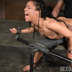 Kira Noir in 'Insex' Adorable Kira Noir shackled down in belt bondage and taken roughly from both ends by big dick! (Thumbnail 8)