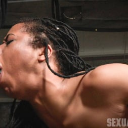 Kira Noir in 'Insex' Adorable Kira Noir shackled down in belt bondage and taken roughly from both ends by big dick! (Thumbnail 11)