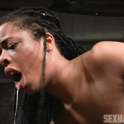 Kira Noir in 'Insex' Adorable Kira Noir shackled down in belt bondage and taken roughly from both ends by big dick! (Thumbnail 12)
