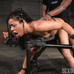 Kira Noir in 'Insex' Adorable Kira Noir shackled down in belt bondage and taken roughly from both ends by big dick! (Thumbnail 14)