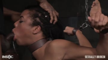 Kira Noir - Toned beauty Kira Noir cranked up in strict chains and roughly fucked into drooling destruction!