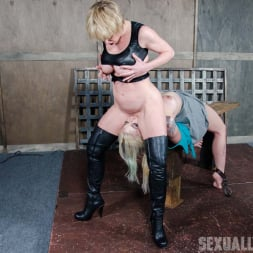 Leya Falcon in 'Insex' Leya Falcon, hot blonds with Huge tits, bound down and double fucked throated. Pussy smothered! (Thumbnail 8)