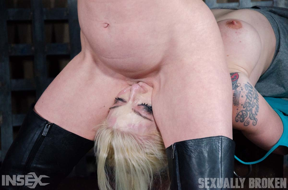 Insex 'Leya Falcon, hot blonds with Huge tits, bound down and double fucked throated. Pussy smothered!' starring Leya Falcon (Photo 9)