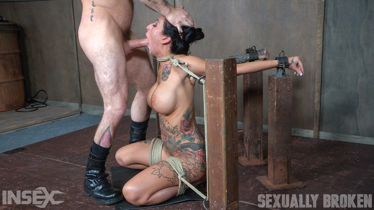 Insex 'Lily lane is destroyed by a brutal face fucking, while being made to cum over and over!' starring Lily Lane (Photo 1)