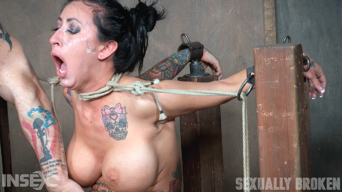 Insex 'Lily lane is destroyed by a brutal face fucking, while being made to cum over and over!' starring Lily Lane (Photo 11)