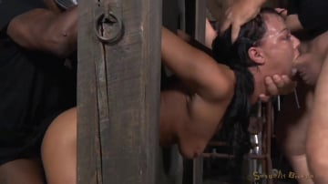 London River - Two well used barn sluts restrained in strict bondage, epic London River and Darling tag team!