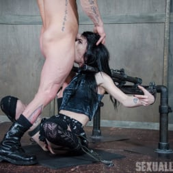 Lydia Black in 'Insex' is bound in a custom face fucking device, throated and made to cum over and over! (Thumbnail 1)