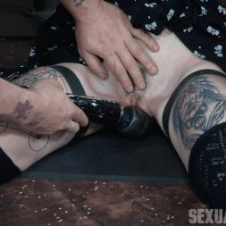 Lydia Black in 'Insex' is bound in a custom face fucking device, throated and made to cum over and over! (Thumbnail 9)