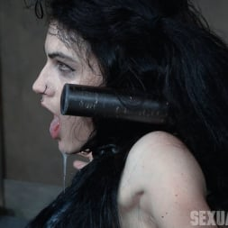 Lydia Black in 'Insex' is bound in a custom face fucking device, throated and made to cum over and over! (Thumbnail 11)