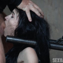 Lydia Black in 'Insex' is bound in a custom face fucking device, throated and made to cum over and over! (Thumbnail 12)