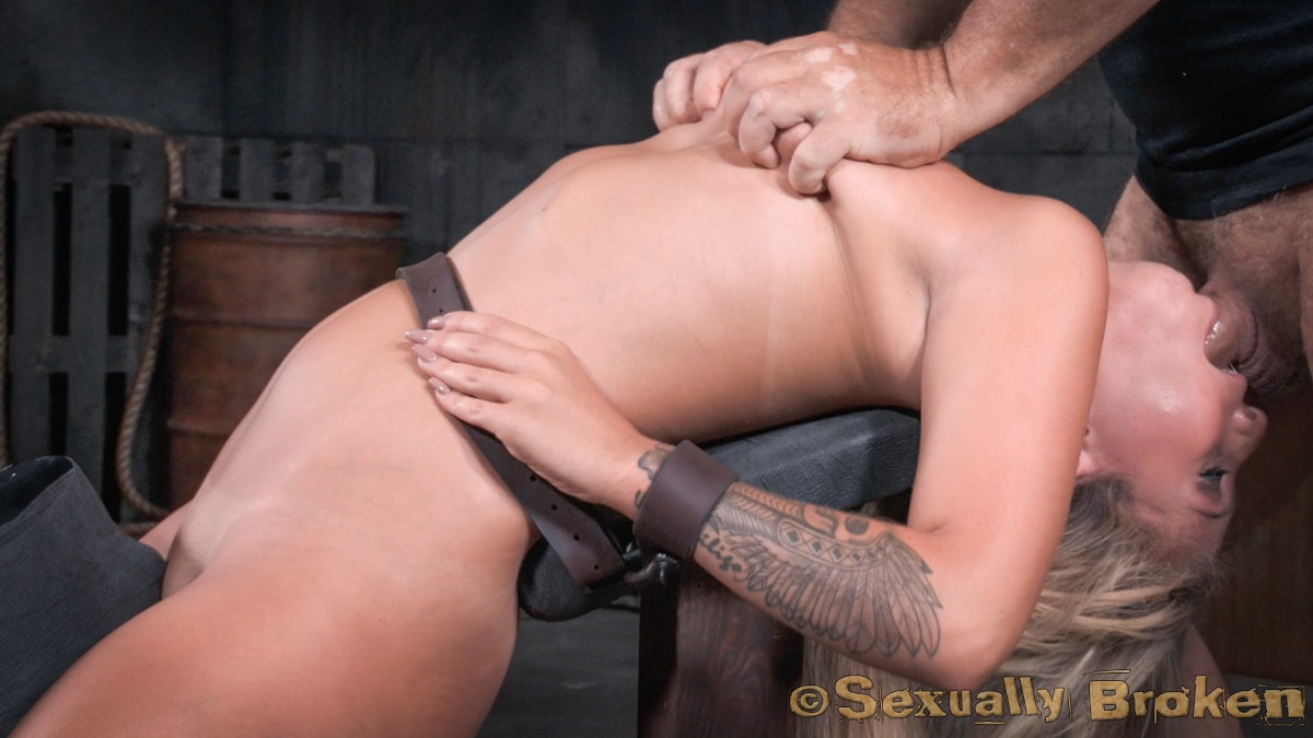 Porn Image Super Hot Madelyn Monroe Tied With Legs Spread Wide And Tag Teamed By Couple