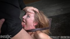 Mona Wales - All natural stunner Mona Wales takes on 3 cocks blindfolded and shackled onto a vibrator! (Thumb 13)