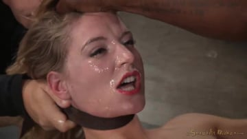 Mona Wales - Sexy Mona Wales shackled in classic fuck me position and fucked into squirting orgasms by BBC!